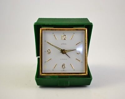 "Rare Vintage Travel  Desk Alarm Clock ""Emes"" Made In Germany"
