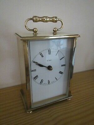 VINTAGE 1960's METAMEC BRASS CARRIAGE CLOCK WITH KIENZLE QUARTZ MOVEMENT