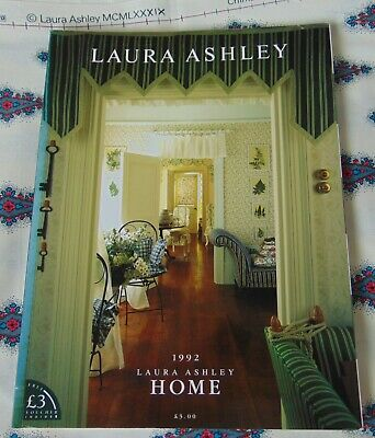 Laura Ashley Vintage 1992 Home Decoration/ Furnishings Catalogue 178 pgs - Rare