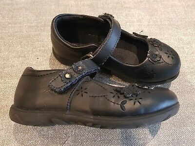 Mini B size 10 infant black faux leather Mary Jane smart school shoes flats