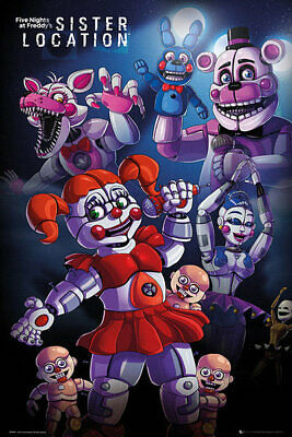 Póster Five Nights at Freddy's. Sister Location