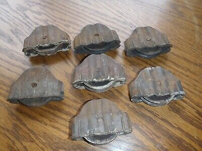 Rare Vintage,Primitive Window Rollers,Casters,Steampunk Rollers Lot 7 Pieces