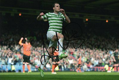 """Signed Anthony Stokes Celtic 12"""" x 8"""" photo! Scotland Tierney Brown Demebele"""