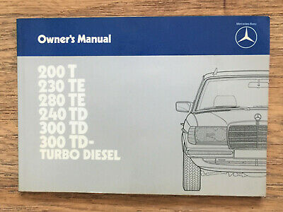 Mercedes W123T Touring Owner Manual Handbook Guide 1980-1985
