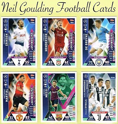 CHAMPIONS LEAGUE MATCH ATTAX EXTRA 2018-2019 ROAD TO MADRID ☆ Cards #62 to #129