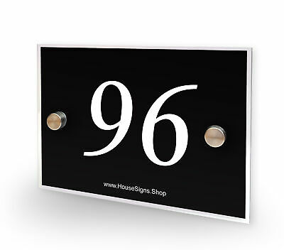 Home Number 96 House Sign Plaque Address Contemporary Style No 96