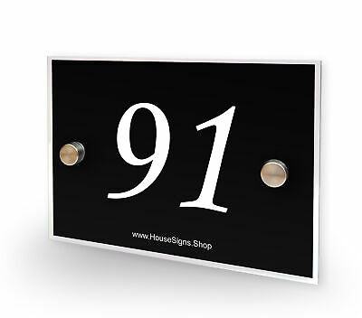 Home Number 91 House Sign Plaque Address Contemporary Style No 91