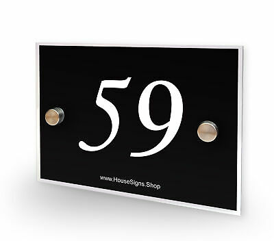 Home Number 59 House Sign Plaque Address Contemporary Style No 59