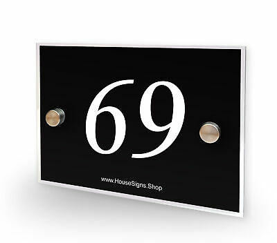 Home Number 69 House Sign Plaque Address Contemporary Style No 69