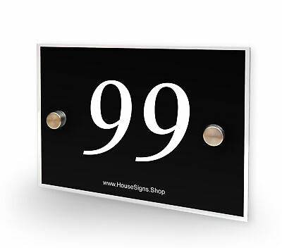 Home Number 99 House Sign Plaque Address Contemporary Style No 99