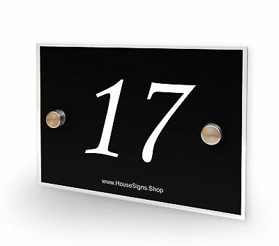 House Number 17 Plaque Home Number Outdoor Address Sign No 17