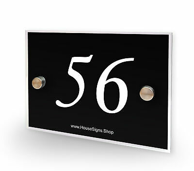 Home Number 56 House Sign Plaque Address Contemporary Style No 56