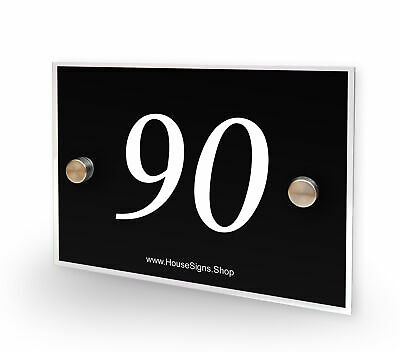 Home Number 90 House Sign Plaque Address Contemporary Style No 90