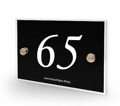 Home Number 65 House Sign Plaque Address Contemporary Style No 65