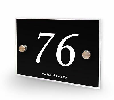 Home Number 76 House Sign Plaque Address Contemporary Style No 76