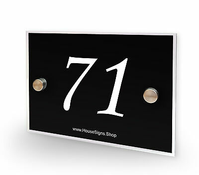 Home Number 71 House Sign Plaque Address Contemporary Style No 71