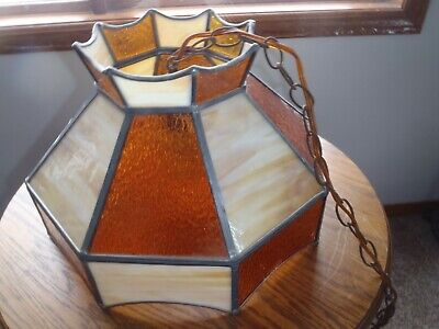 Rare Vintage Leaded Slag Glass Shade.light Shade,Hanging Light Fixtures