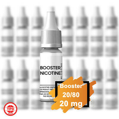 Pack Booster Nicotine 20 mg 10 ml 20/80 - 20% PG / 80% VG DIY Lot de Bouteilles