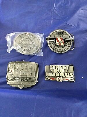 Rare Vintage NSRA Street Rod Nationals Belt Buckle Your Choice NEW
