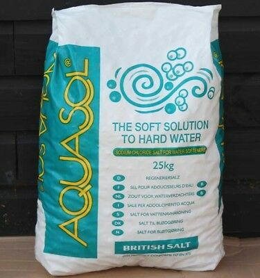 Aquasol 25kg bag Tablet salt - Water softener.  COLLECTION ONLY
