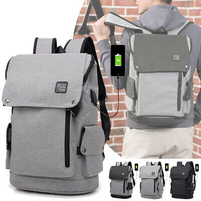 Anti-Theft Backpack USB Charging Port Outdoor Travel Laptop Fashion School Bags
