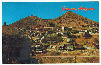 Vintage Old Jerome Arizona Ghost City Town Postcard Advertising Gold Silver Mine