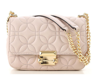 589767418d73 NEW Michael Kors Sloan Large Quilted Leather Chain Shoulder Bag  328 Soft  Pink