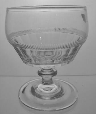 Rare Heavy Georgian Crystal Cut Glass Sweet Meat Glass c1800 Perfect Present
