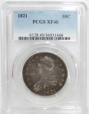 1821 Capped Bust Half Dollar  (Pcgs Xf-40)