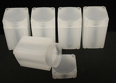 5 SQUARE COIN TUBES - MEDALLION/SILVER ROUNDS, 40mm - NUMIS BRAND