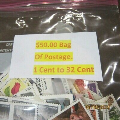 $50 Face Value Mint Postage * Discounted + $ Bonus * 1 Cent To 32 Cent * STK H