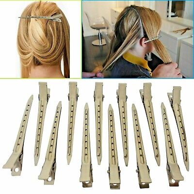12 Hair Sectioning Clips Extension Metal Strong Grip Duck Bill Section Divider