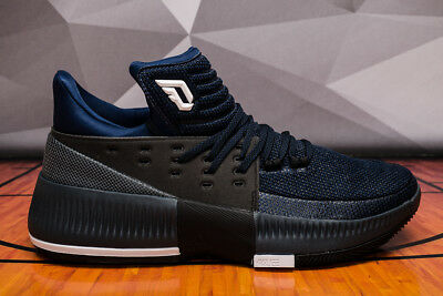 save off 90d4c fc5dd Adidas Dame 3 By Any Means Men s (Size 10.5) BB8271 Lillard Black Blue