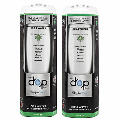 2PACK Genuine-Whirlpool-EDR4RXD1-EveryDrop4 UKF8001 4396395 Ice & Water Filter