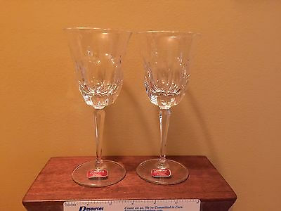 Two Gorham Lead Crystal Wine Glasses - New with Paper Labels