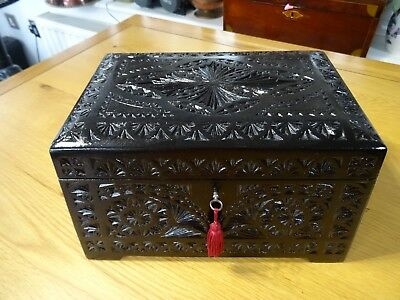 Antique Carved wooden Box (042)