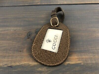 797abd78ca5 New Gucci Green Leather Micro Guccissima GG Logo Luggage Travel ID Tag.   66.90 Buy It Now 4d 3h. See Details. Vintage Gucci Brown Leather Luggage  ID Tag