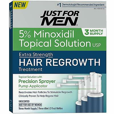 Just for Men Hair Loss Regrowth Treatment 5% Minoxidil Extra Strength 3 Months
