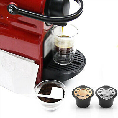 Refillable Coffee Capsule Reusable Filter Plastic + Stainless steel Gold Durable