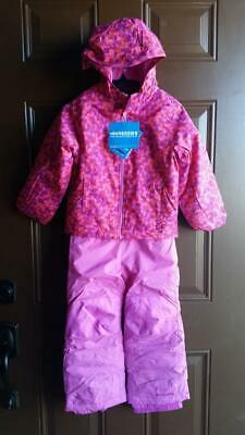 52d102996 COLUMBIA SLIPPERY SLOPE Girls Youth Kids Jacket Rain Hooded BLUE ...