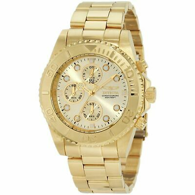 Invicta Pro Diver Men's 18k Gold Plated Stainless Chronograph Watch 1774