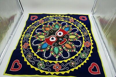 hand stitched  Embroidered tablecloth wall decoration sun design 72 x 71cm