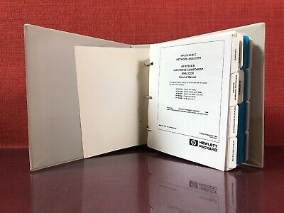 HP 8753A/B/C Network Analyzer 8702A/B Lightwave Analyzer Service Manual #2386