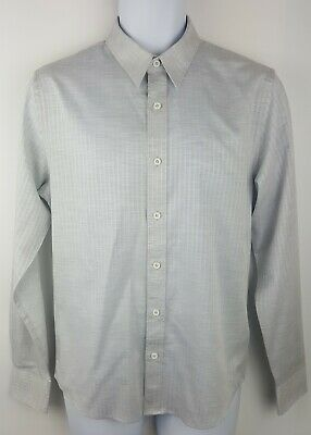 Mens Calvin Klein Jeans CK Long Sleeve Shirt Size Small Grey Stripe Cotton
