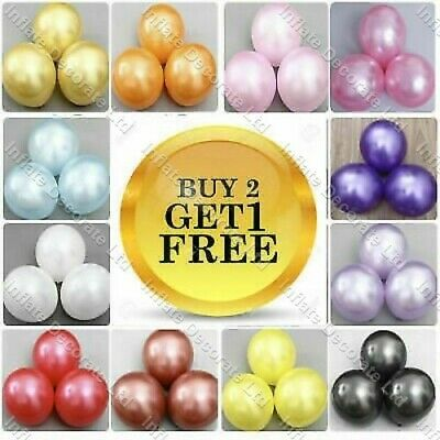 10 X Latex PLAIN BALOON BALLONS helium BALLOONS Quality Party Birthday Baloons