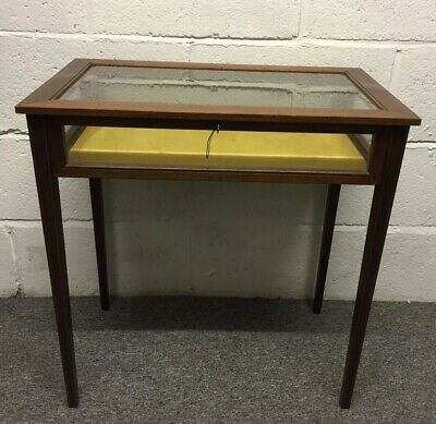 Vintage Edwardian Style Mahogany Inlaid Bevelled Bijouterie Table ~Delivery~