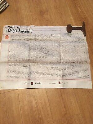 Vellum Indenture 1904 Assignment Of Leasehold Land On Hume Street In Warrington