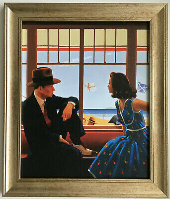 Edith and the Kingpin by Jack Vettriano Framed Canvas Effect Print 51cm x 44cm