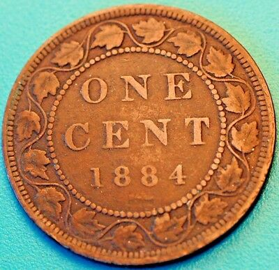 1884 Canada 1 Cent Victoria KM#7 Large Cent
