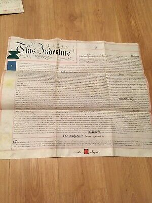 Vellum Indenture 1898 Mortgage Dwelling Shop & Premises Froghall Ln. Warrington